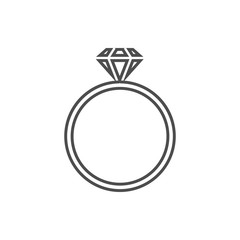 a ring with a diamond icon. Element of cyber security for mobile concept and web apps icon. Thin line icon for website design and development, app development