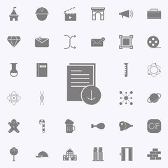 Download Document icon. web icons universal set for web and mobile