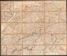 1834, Keller Pocket Map of Switzerland