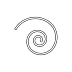 spiral icon. Element of cyber security for mobile concept and web apps icon. Thin line icon for website design and development, app development