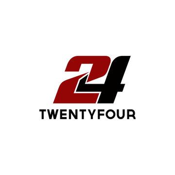 24 number template logo design inspiration