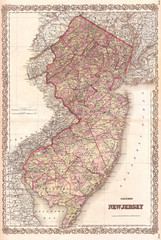 1868, Colton Map of New Jersey