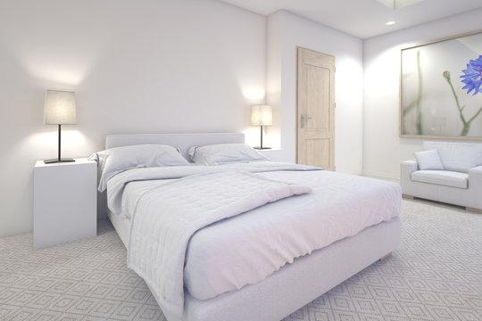白いベッドルーム 2