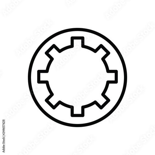 Black line icon for bethesda