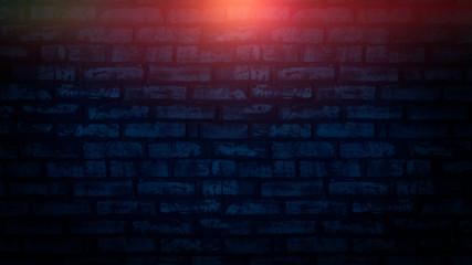 Brick wall, background, neon light