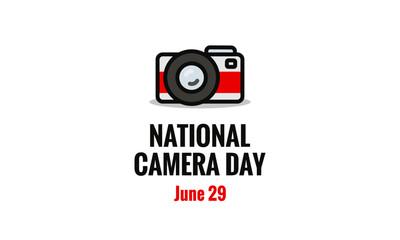 National Camera Day June 29 Poster Design