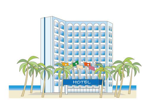 海辺のリゾートホテル