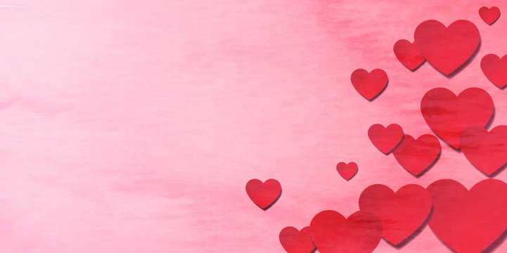 バレンタイン ハート 冬 背景