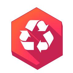Fototapeta ikona z długim cieniem na tle sześcioboku