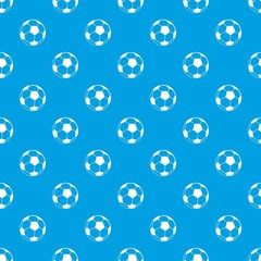 Football pattern vector seamless blue repeat for any use