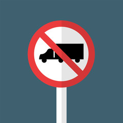 No Trucks Sign,Alert symbol,Do not pass trucks