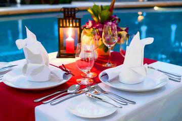Romantic Candlelit Dinner - Romance Concept Art