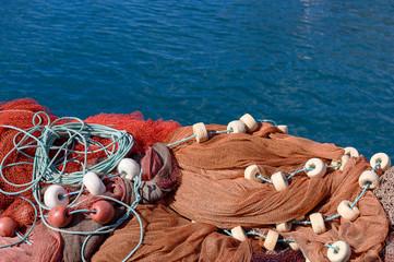Fischernetze im Hafen von Puerto Tazacorte