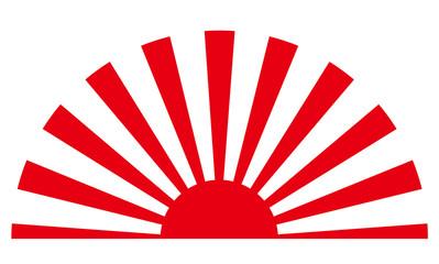日章旗パターンのイラスト