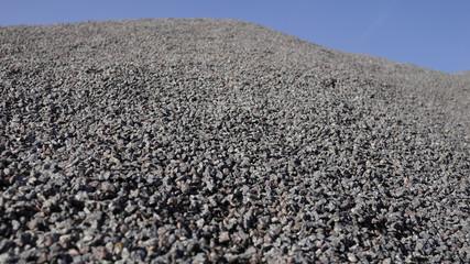 Haufen Splitt Granit