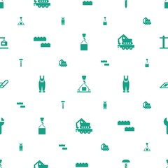 build icons pattern seamless white background