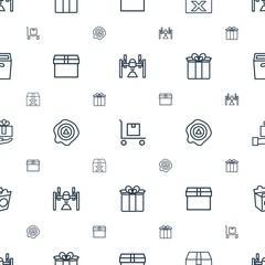 package icons pattern seamless white background