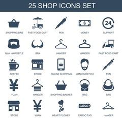 25 shop icons