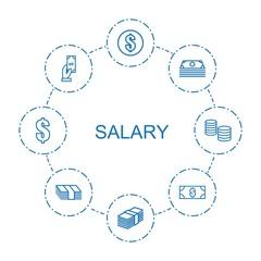 8 salary icons