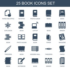 25 book icons