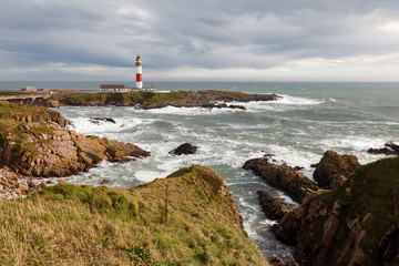 Buchan Ness Lighthouse in Boddam Aberdeenshire near Aberdeen in Scotland