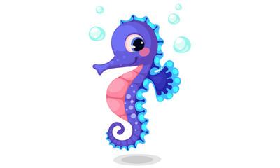 Beautiful seahorse cartoon