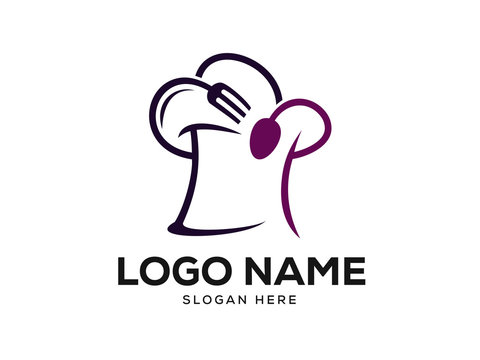 Chef Logo Designs Concept, Food Logo Designs Template Vector