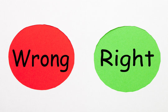 Right Wrong Concept