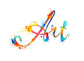 Art. calligraphic word of splash pain