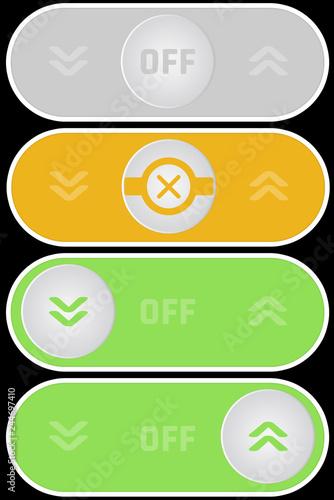 CSS Button Hoch/Runter SmartHome Steuerung