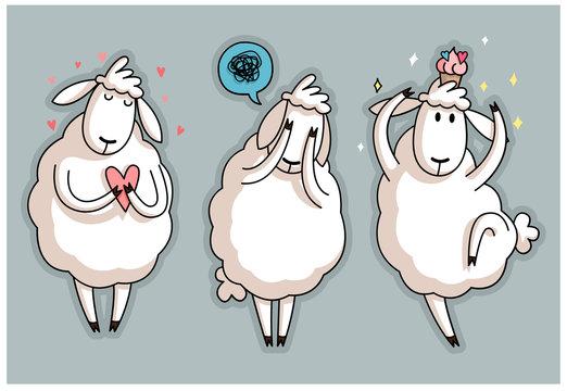 Cute sheep character