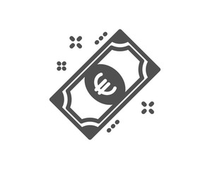 Euro money icon. Payment method sign. Eur symbol. Quality design element. Classic style icon. Vector