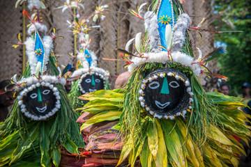 Mask festival Rabaul Wall mural