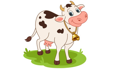 Cow cartoon vector