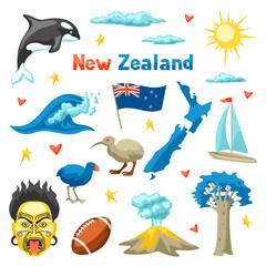 New Zealand icons set.
