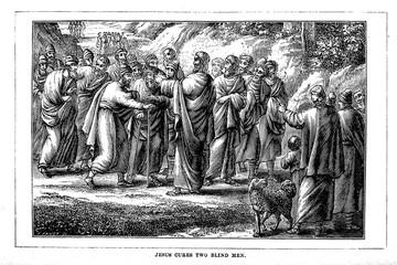 Jesus cures blind man