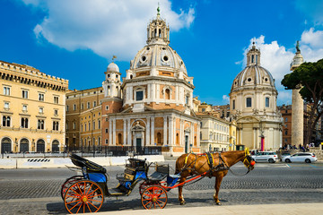 Horse carriage in Rome, Italy