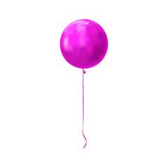 Purple balloon icon isolated on white background