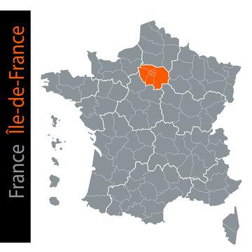 Les régions de France / Région Île-de-France