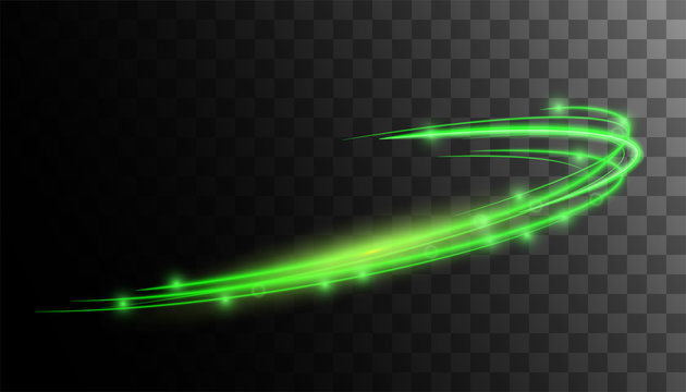 Transparent glow green light effect.glitter powder splash background. Green dust. Magic mist glowing. Round frame vector.