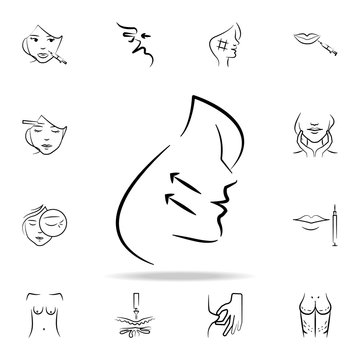 facelift icon. Detailed set of anti-aging procedure icons. Premium graphic design. One of the collection icons for websites, web design, mobile app