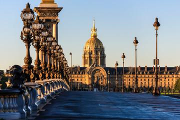Photo sur Toile Europe Centrale Ponte a Parigi all'alba