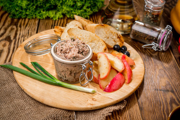 Pate from meat and rabbit