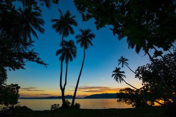 Sunset Uepi island Solomon islands