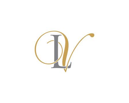 LV VL Letter Logo Icon 002