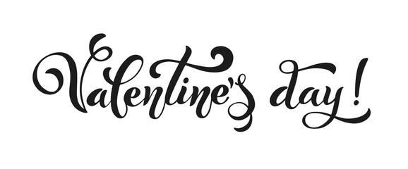 Happy Valentines Day. Retro vintage style. Brush lettering. Heart of many hearts. Logos and emblems for invitation, greeting card, t-shirt, prints and posters. Vector illustration.