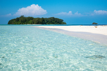 Tropical island on the Solomon islands