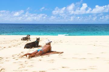 ハワイノースショア・ペレの従者のあるビーチ