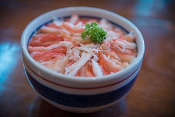 Rice with crab recipe.