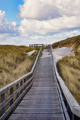 Wooden path to the sea - Sylt, Germany